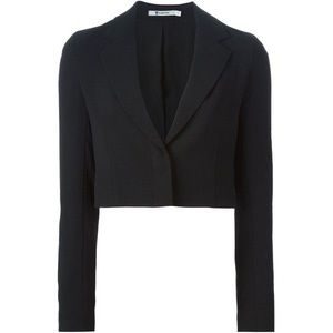 T by Alexander Wang Cropped One-Button Blazer NWT